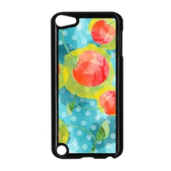 Red Cherries Apple Ipod Touch 5 Case (black) by DanaeStudio