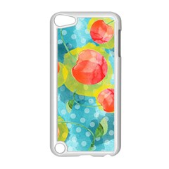 Red Cherries Apple Ipod Touch 5 Case (white) by DanaeStudio