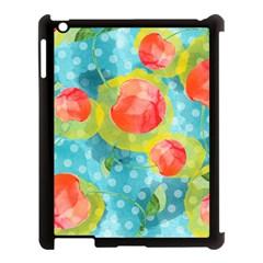 Red Cherries Apple Ipad 3/4 Case (black) by DanaeStudio