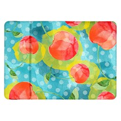 Red Cherries Samsung Galaxy Tab 8 9  P7300 Flip Case by DanaeStudio