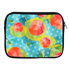 Red Cherries Apple Ipad 2/3/4 Zipper Cases by DanaeStudio