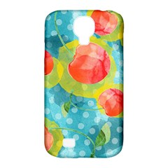 Red Cherries Samsung Galaxy S4 Classic Hardshell Case (pc+silicone) by DanaeStudio