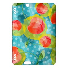 Red Cherries Kindle Fire Hdx Hardshell Case by DanaeStudio