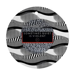 Sometimes Quiet Is Violent Twenty One Pilots The Meaning Of Blurryface Album Ornament (round)  by Onesevenart