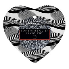 Sometimes Quiet Is Violent Twenty One Pilots The Meaning Of Blurryface Album Ornament (heart)  by Onesevenart