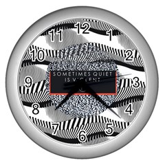 Sometimes Quiet Is Violent Twenty One Pilots The Meaning Of Blurryface Album Wall Clocks (silver)  by Onesevenart