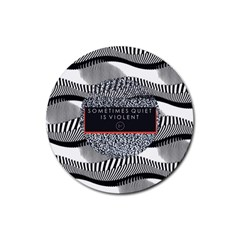 Sometimes Quiet Is Violent Twenty One Pilots The Meaning Of Blurryface Album Rubber Round Coaster (4 Pack)  by Onesevenart
