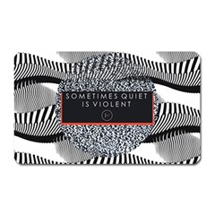 Sometimes Quiet Is Violent Twenty One Pilots The Meaning Of Blurryface Album Magnet (rectangular) by Onesevenart