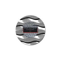 Sometimes Quiet Is Violent Twenty One Pilots The Meaning Of Blurryface Album Golf Ball Marker by Onesevenart