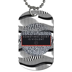 Sometimes Quiet Is Violent Twenty One Pilots The Meaning Of Blurryface Album Dog Tag (two Sides) by Onesevenart