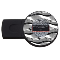 Sometimes Quiet Is Violent Twenty One Pilots The Meaning Of Blurryface Album Usb Flash Drive Round (4 Gb)  by Onesevenart
