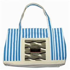 Sometimes Quiet Is Violent Twenty One Pilots The Meaning Of Blurryface Album Striped Blue Tote Bag by Onesevenart