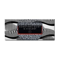 Sometimes Quiet Is Violent Twenty One Pilots The Meaning Of Blurryface Album Hand Towel by Onesevenart