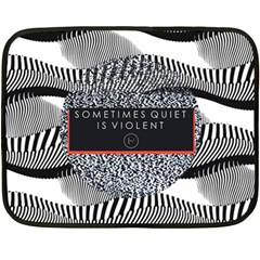 Sometimes Quiet Is Violent Twenty One Pilots The Meaning Of Blurryface Album Double Sided Fleece Blanket (mini)  by Onesevenart