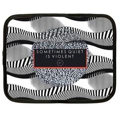 Sometimes Quiet Is Violent Twenty One Pilots The Meaning Of Blurryface Album Netbook Case (xl)  by Onesevenart