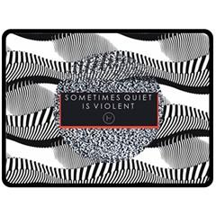 Sometimes Quiet Is Violent Twenty One Pilots The Meaning Of Blurryface Album Fleece Blanket (large)  by Onesevenart