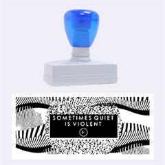 Sometimes Quiet Is Violent Twenty One Pilots The Meaning Of Blurryface Album Rubber Stamps (large) by Onesevenart