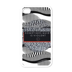 Sometimes Quiet Is Violent Twenty One Pilots The Meaning Of Blurryface Album Apple Iphone 4 Case (white) by Onesevenart