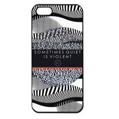 Sometimes Quiet Is Violent Twenty One Pilots The Meaning Of Blurryface Album Apple Iphone 5 Seamless Case (black) by Onesevenart
