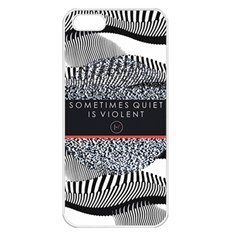 Sometimes Quiet Is Violent Twenty One Pilots The Meaning Of Blurryface Album Apple Iphone 5 Seamless Case (white) by Onesevenart