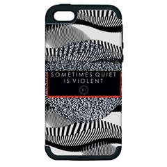Sometimes Quiet Is Violent Twenty One Pilots The Meaning Of Blurryface Album Apple Iphone 5 Hardshell Case (pc+silicone) by Onesevenart