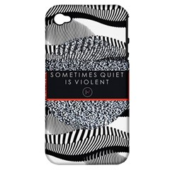 Sometimes Quiet Is Violent Twenty One Pilots The Meaning Of Blurryface Album Apple Iphone 4/4s Hardshell Case (pc+silicone) by Onesevenart