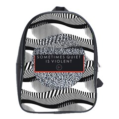 Sometimes Quiet Is Violent Twenty One Pilots The Meaning Of Blurryface Album School Bags (xl)  by Onesevenart