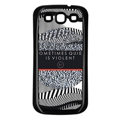 Sometimes Quiet Is Violent Twenty One Pilots The Meaning Of Blurryface Album Samsung Galaxy S3 Back Case (black) by Onesevenart