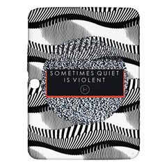Sometimes Quiet Is Violent Twenty One Pilots The Meaning Of Blurryface Album Samsung Galaxy Tab 3 (10 1 ) P5200 Hardshell Case  by Onesevenart