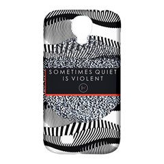 Sometimes Quiet Is Violent Twenty One Pilots The Meaning Of Blurryface Album Samsung Galaxy S4 Classic Hardshell Case (pc+silicone) by Onesevenart