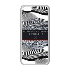 Sometimes Quiet Is Violent Twenty One Pilots The Meaning Of Blurryface Album Apple Iphone 5c Seamless Case (white) by Onesevenart