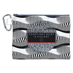 Sometimes Quiet Is Violent Twenty One Pilots The Meaning Of Blurryface Album Canvas Cosmetic Bag (xxl) by Onesevenart