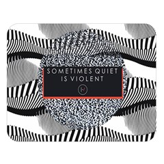 Sometimes Quiet Is Violent Twenty One Pilots The Meaning Of Blurryface Album Double Sided Flano Blanket (large)  by Onesevenart