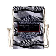 Sometimes Quiet Is Violent Twenty One Pilots The Meaning Of Blurryface Album Drawstring Bag (small) by Onesevenart