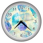 Seashells Wall Clocks (Silver)