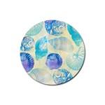Seashells Rubber Round Coaster (4 pack)