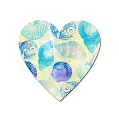 Seashells Heart Magnet by DanaeStudio