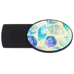 Seashells Usb Flash Drive Oval (2 Gb)  by DanaeStudio