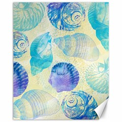 Seashells Canvas 11  X 14   by DanaeStudio