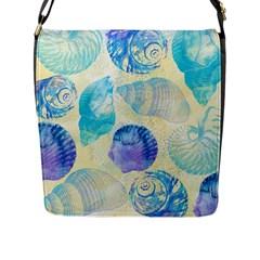 Seashells Flap Messenger Bag (l)  by DanaeStudio
