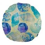 Seashells Large 18  Premium Flano Round Cushions