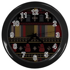 Tardis Doctor Who Ugly Holiday Wall Clocks (black) by Onesevenart