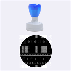 Tardis Doctor Who Ugly Holiday Rubber Round Stamps (medium) by Onesevenart
