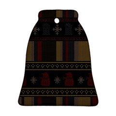 Tardis Doctor Who Ugly Holiday Ornament (bell)  by Onesevenart