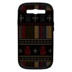 Tardis Doctor Who Ugly Holiday Samsung Galaxy S III Hardshell Case (PC+Silicone)