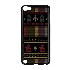 Tardis Doctor Who Ugly Holiday Apple Ipod Touch 5 Case (black) by Onesevenart