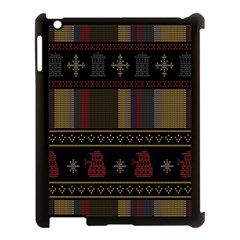 Tardis Doctor Who Ugly Holiday Apple Ipad 3/4 Case (black) by Onesevenart