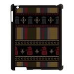 Tardis Doctor Who Ugly Holiday Apple iPad 3/4 Case (Black)