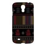 Tardis Doctor Who Ugly Holiday Samsung Galaxy S4 I9500/I9505 Hardshell Case
