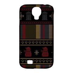 Tardis Doctor Who Ugly Holiday Samsung Galaxy S4 Classic Hardshell Case (pc+silicone) by Onesevenart